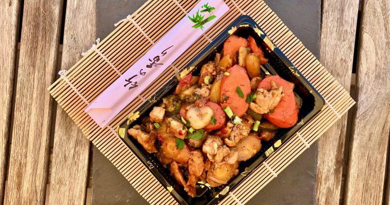 Salteado de cerdo con verduras al wok