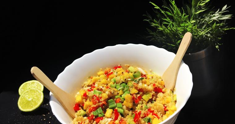 Ensalada de quinoa, mango y aguacate