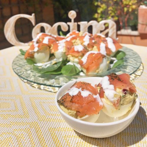 Huevos Rellenos con Salmón